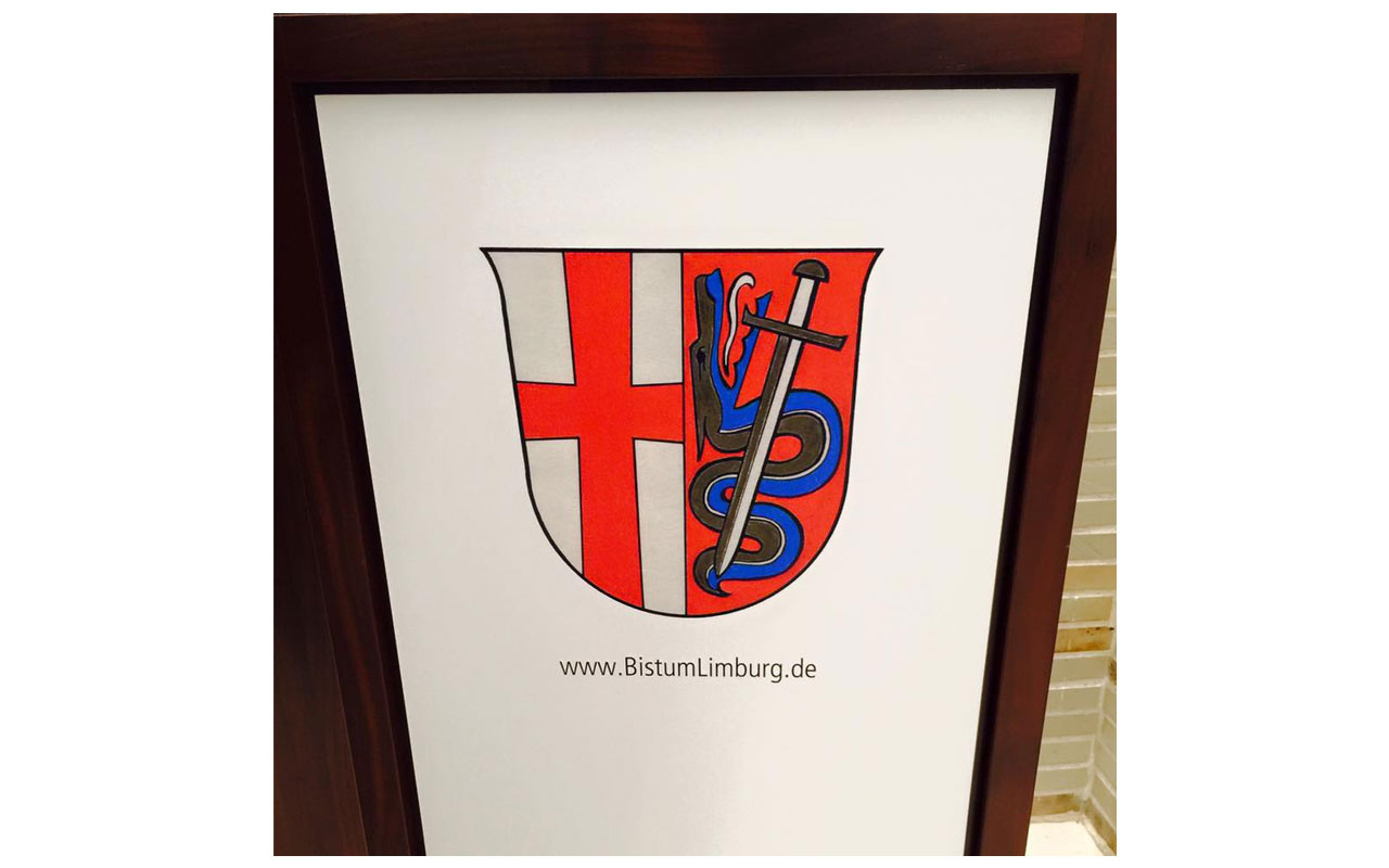 Wappen des Bistums Limburg. © Lilly Moments