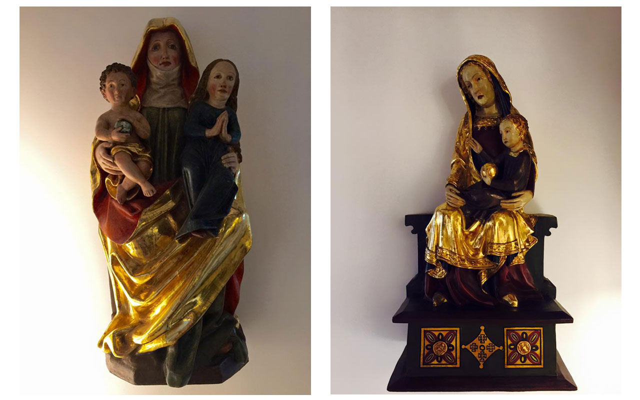 Jeweils links und rechts: Heilige Maria Mutter Gottes. © Lilly Moments