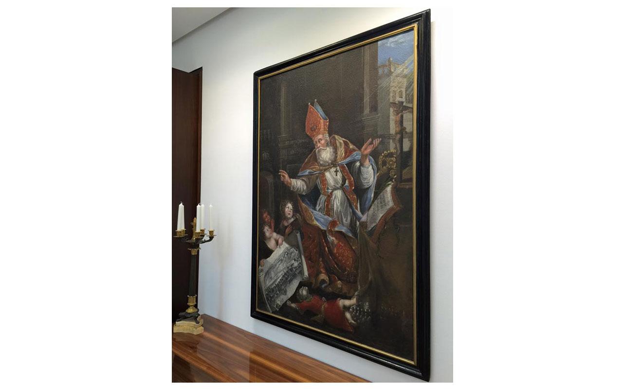 Gemälde des Heiligen Nikolaus im Emmaussaal/Konferenzraum. © Lilly Moments