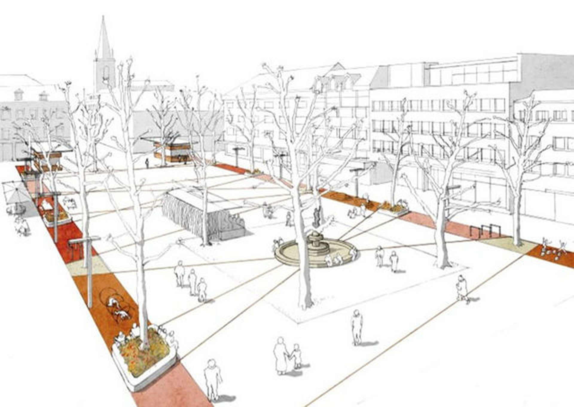 So könnte der Neumarkt in Limburg nach der Neugestaltung einmal aussehen. © Stadt Limburg