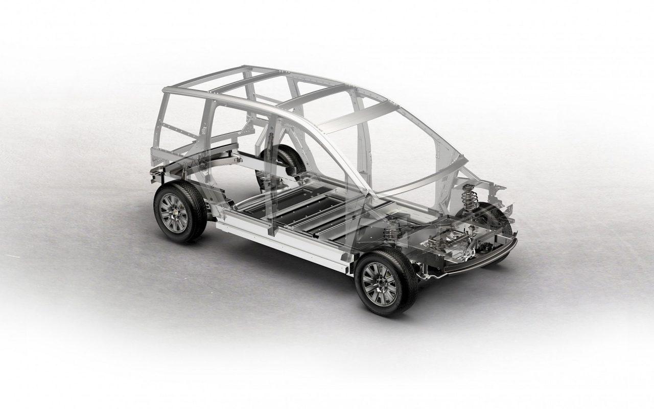 Starke Basis: Der Aluminium Space Frame des Sion sorgt für Sicherheit. Er ist außerdem leicht, oxidiert nicht und ist zu 100% recycelbar. © Sono Motors