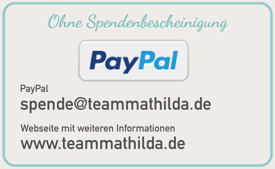 Auf PayPal für Mathilda spenden - ohne Spendenbescheinigung. | Neues Limburg
