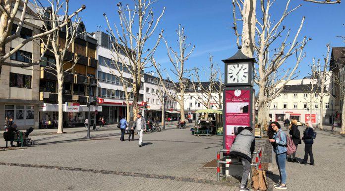 Die Platanen sind Geschichte! Die Entscheidung für eine Neugestaltung des Neumarkts in Limburg ist gefallen. Entscheidung beinhaltet, dass die 40 Jahre alten Platanen durch neue Bäume ersetzt werden sollen. © Luís Matos