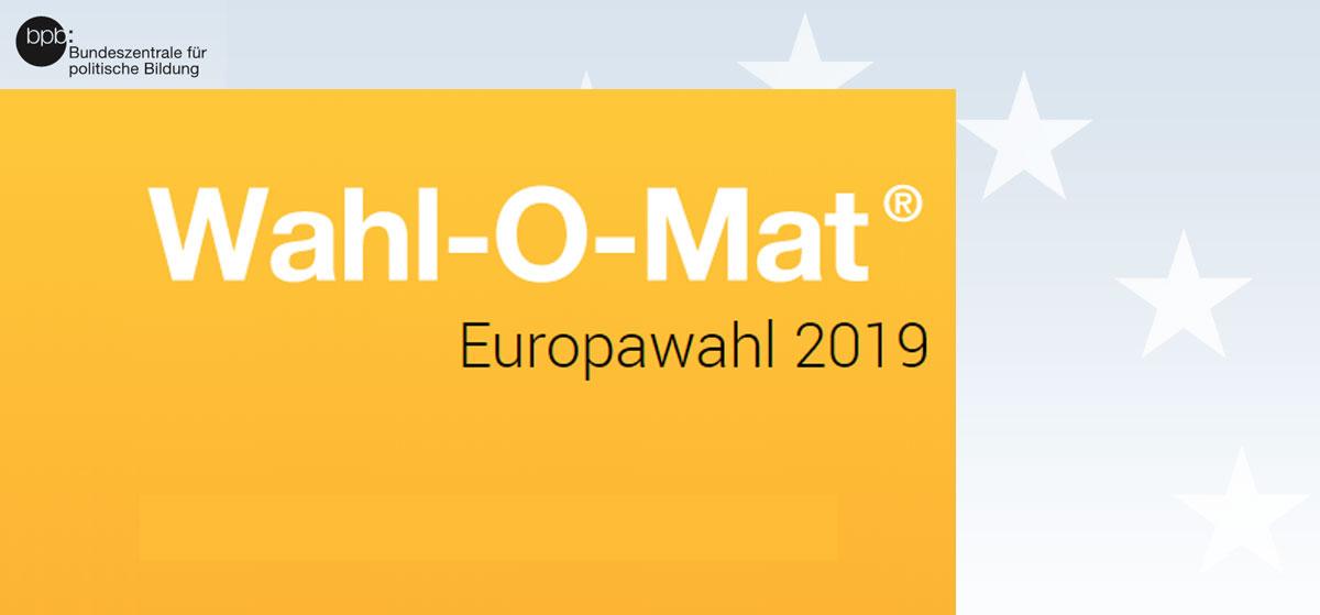 Jetzt noch schnell Wahl-O-Mat checken und herausfinden, welche Partei Ihr bei der Europawahl 2019 wählen solltet. Grafik: Screenshot Wahl-O-Mat, Luís Matos